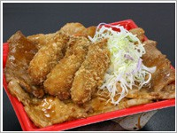 かきぶた合戦丼(1,260円)