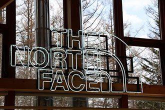 美瑛 白金ビルケ THE NORTH FACE コーナー